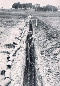 old tile drainage photo